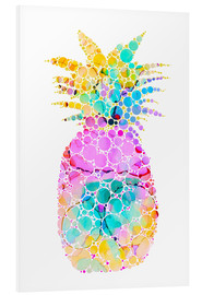 Tableau en PVC  Ananas multicolore - Miss Coopers Lounge