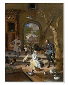 Poster  La Basse cour - Jan Havicksz. Steen